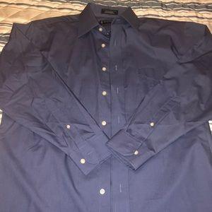 Stafford Blue Dress Shirt Men's 16 32-33